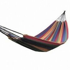 Single Portable Cotton Rope Outdoor Swing Fabric Camping Hanging Hammock Canvas