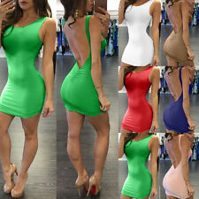 Sexy Women Lady Bandage Bodycon Evening Backless Party Cocktail Short MINI Dress