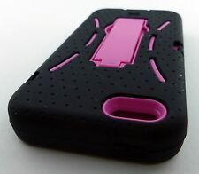 PINK DURABLE IMPACT HARD SOFT CASE COVER KICKSTAND APPLE IPHONE 5 5S PHONE