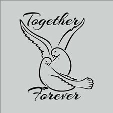 Together Forever Cute Doves Decor vinyl wall decal quote sticker Inspiration