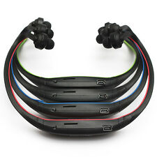 Wireless Sport Running MP3 Player Headset Headphone Earphone music TF SD Slot