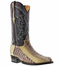 mens genuine ostrich leg western leather rodeo riding cowboy boots j toe new