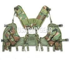 US MADE Military USGI MOLLE Woodland Enhanced Tactical Load Bearing Vest LBV