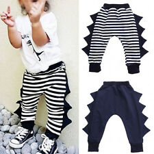 Cute Toddler Kids Baby Boys Girls Baggy Harem Pants Trousers Elastic Bottoms RE