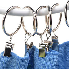 20X Stainless Steel Window Shower Curtain Clips Hook Clips Drapery Rings