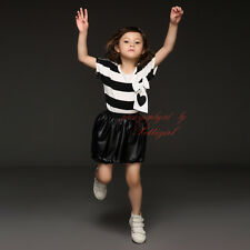 Baby Girls Striped T-Shirt + Black Casual Shorts Set Kids Summer Clothing Outfit