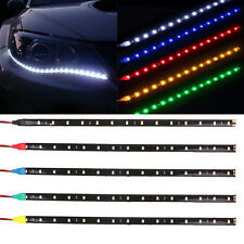NEW 2PC 12 LEDs 30cm 5050 SMD LED Strip Light Flexible 12V Car Decor Waterproof