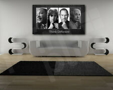 """Think Different"" M.L. King, John Lennon, S. Jobs, Einstein Canvas Poster Print"