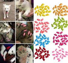 20Pcs Lovely Colorful Soft Rubber Pet Dog Cat Kitten Paw Claw Nail Caps Cover