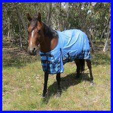 LOVE MY HORSE 600D 5'0 - 6'6  600D Waterproof Rainsheet Std Rug Sky /Tarten Blue