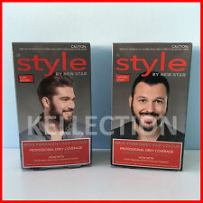 STYLE MENS PERMANENT HAIR COLOUR DYE PROFESSIONAL GREY COVERAGE EASY TO USE