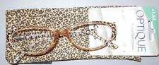 Optique by Foster Grant Reading Glasses Handcrafted W Case Retails $22.99 +1.50