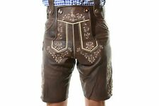 Bavarian Oktoberfest Lederhosen Lamb Leather Tracht Short German Costume @BERLIN