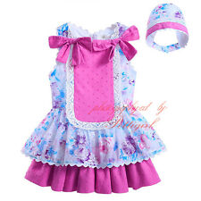 Infant Baby Girl Flower Princess Dress Party Pageant Tutu Skater Skirt + Hat Set