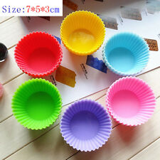 36X 7*5*3cm Silicone Cake Muffin Chocolate Cupcake Liner Baking Cup Cooki Mold G