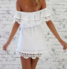 Evening Cocktail Lace Dress Summer Mini New Women Sleeveless Party Casual
