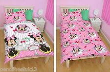 New Kids Disney Character MINNIE MOUSE Single Bedding Duvet / Quilt Cover Set