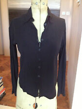Women's Black Ghost Shirt Blouse Top Size Petite/Small