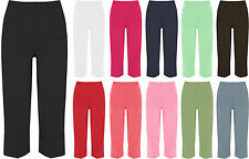 New Womens Plus Size 3/4 Casual Crop Calf Ladies Short Pants Trousers