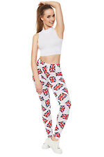 Womens Union Jack England British Uk Flag Print Stretch Pants Ladies Leggings