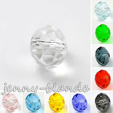 Clear Czech Glass Crystal Rondelle Loose Spacer Bead Jewelry Finding 4/6/8/10mm