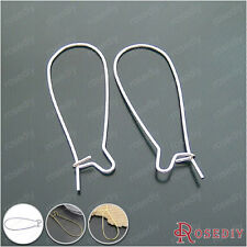 50PCS Height:36MM Iron Long Earring Hooks Jewelry Findings Accessories 8725
