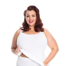 33: Plus Size Cami-Vest-Top in seamless stretch fabric with luxury lace trim