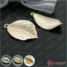 10PCS 35*20MM Alloy Tree leaf Charms Pendants Jewelry Findings Accessories 26853