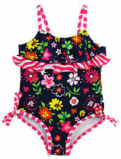 Pink Platinum Baby Girls' Garden Flowers One Piece Swimsuit