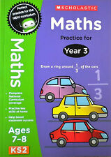 Maths practice Key Stage 2 children's book learning Ages 7-8 year 3 Curriculum