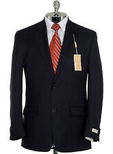 MICHAEL KORS Mens Navy Wool Modern Two Button Suit Sportcoat Blazer Jacket $295
