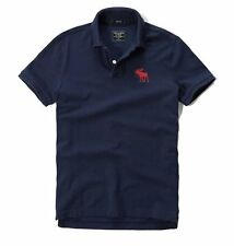 Nwt Abercrombie By Hollister Mens Muscle Fit Polo Shirt Size XL Navy