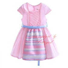 Kids Toddler Girl Flower Dress Princess Birthday Wedding Party Pageant Communion