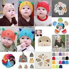 0-3Y Newborn Baby Boys Girls Toddler Infant Unisex Cotton Cute Hat Cap Muticolor