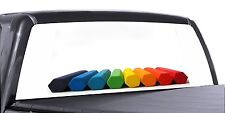 VuScapes Truck Rear Window Graphic - 4 SIZES AVIAL. - RAINBOW CHALK