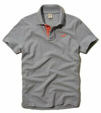 New Hollister By Abercrombie Mens Muscle Fit Short Sleeve Polo Shirt Size S Gray