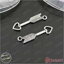 50PCS 27*5MM Alloy Love Arrow Charms Pendants Jewelry Findings Accessories 25228