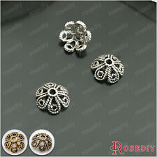 50PCS 10MM Alloy Twisted petals Bead Caps Jewelry Findings Accessories 26936