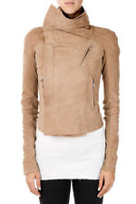 RICK OWENS Woman Leather Jacket Nuova e Originale