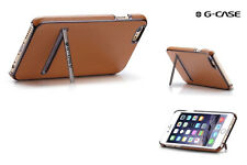 For Apple iPhone 6 6S Plus Shockproof Leather Ultra Thin Hard Back Stand Case