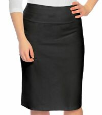 Kosher Casual Women's Knee Length Stretch Pencil Skirt In Cotton Lycra