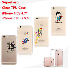 Super Hero Comic Book Character Soft Cover Case DC Comics Marvel Avenger  iPhone