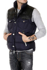 DSQUARED2 Dsquared² Men Coat Gilet Padded Puffer With Leather Fringe Real Down
