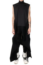 RICK OWENS PEACOLLAR Man Black Mixed Virgin Wool Top New with Tags and Orginal