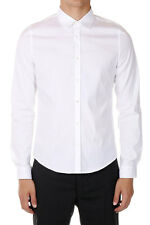 GUCCI Men White Stretch Cotton Shirt Made in Italy New with Tag Original