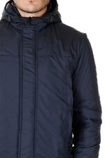 LOW BRAND New Men Padded Blue Coat With Hood Jacket BACKFIRE NWT