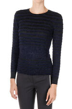 DSQUARED2 Dsquared² New Women Striped Round Neck Sweater Tee Long sleeve