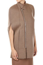 RICK OWENS Lilies New women Beige Neoprene Sleeveless Blazer CAPE Made italy