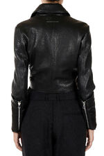 MAISON MARTIN MARGIELA 6 New Women Leather Jacket Padded NWT