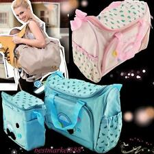 4Pc Travel Baby Diaper Nappy Bag Mummy Changing Mat+Bottle Holder mother Handbag